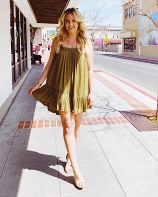 Olive Free People Dress- Miyamo Boutique