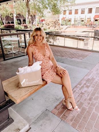 Coral Paisley Spring Dress- Miyamo Boutique